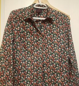 J.Crew Lady L. Sleeve Shirt - Liberty Pansy Floral